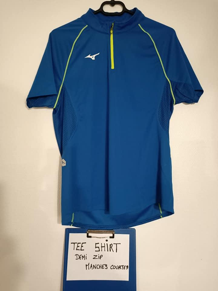 Tee shirt demi zip manches courtes